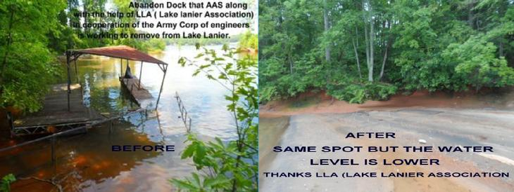 LAKE LANIER , CONTINUAL CLEANUP